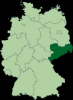 Map highlight the State of Saxoney